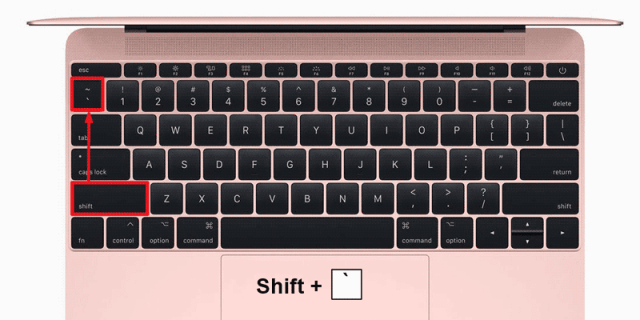 Where the Tilde Symbol is located on the Keyboard