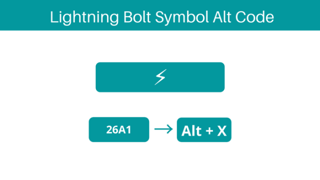 How to type Lightning bolt in Word with Alt Code keyboard shortcut