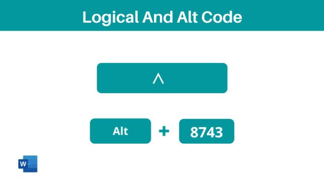 Logical And symbol Alt Code Shortcut