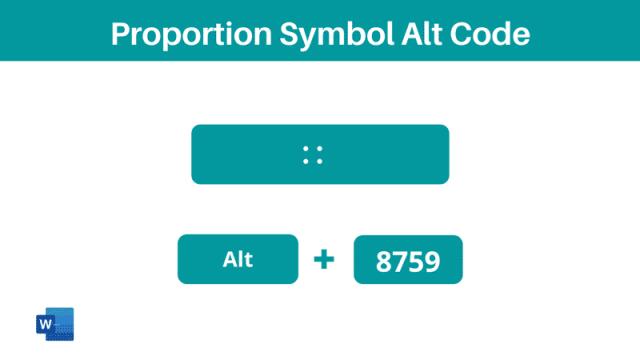Proportion Symbol Alt Code