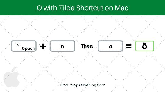 o with tilde shortcut on Mac
