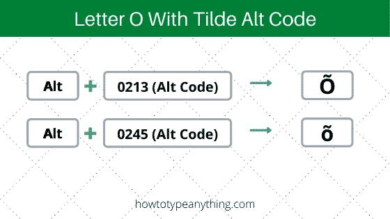 letter o with tilde alt code