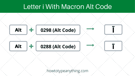 i with macron alt code