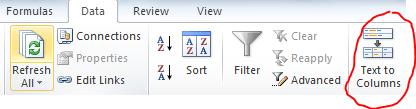 Text to Columns icon