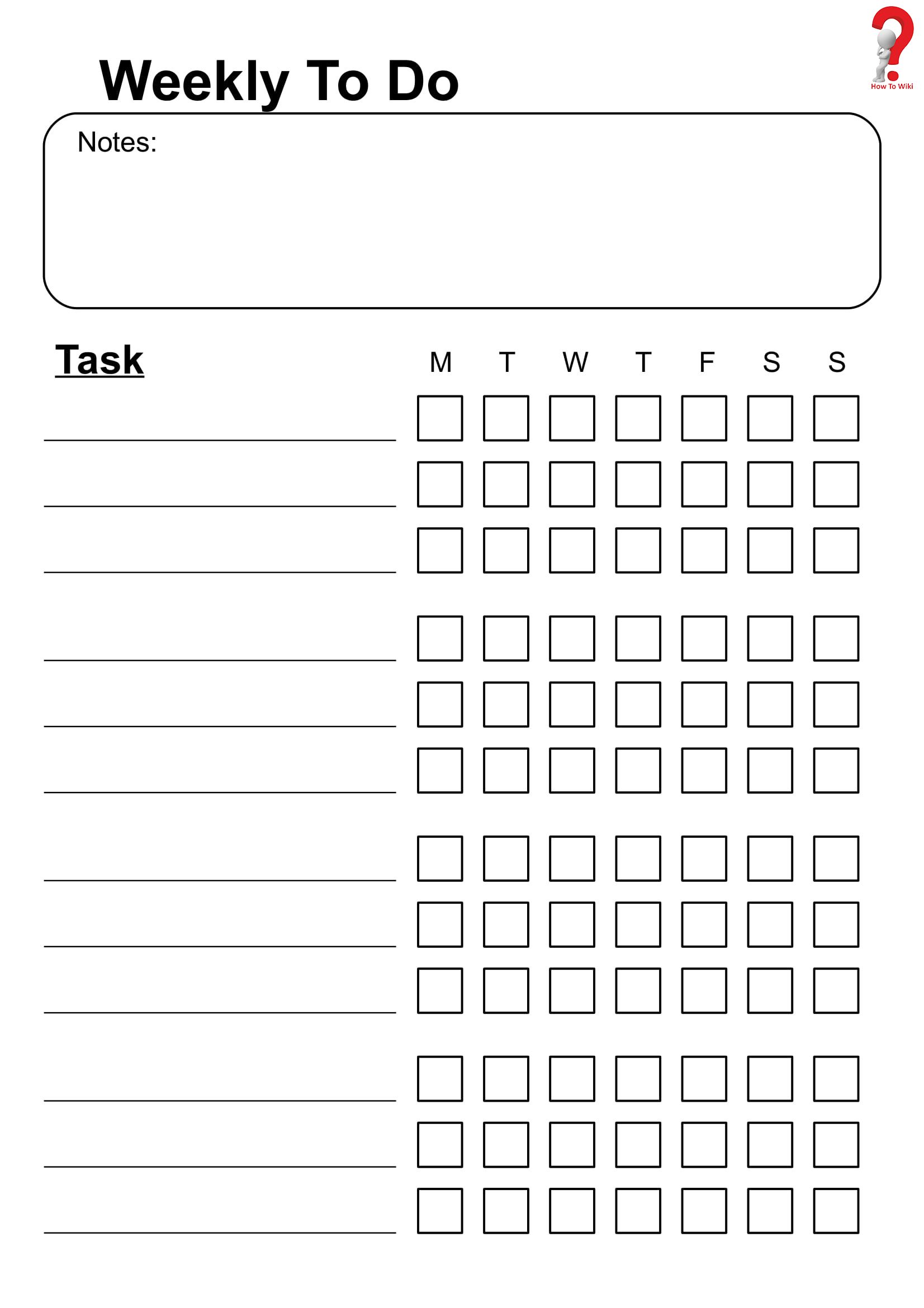 How To Schedule Your Week With Weekly To Do List Template