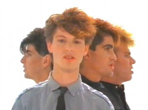 Eighties Australian synthpop band Pseudo Echo, from their music video 'Listening'