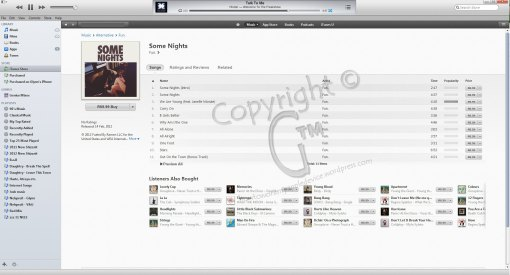 iTunes Album Purchase Screen