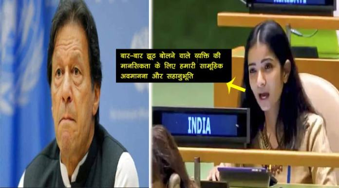 what Indian Women Secretary Sneha Dubey says to Pakistan PM United Nations General Assembly?