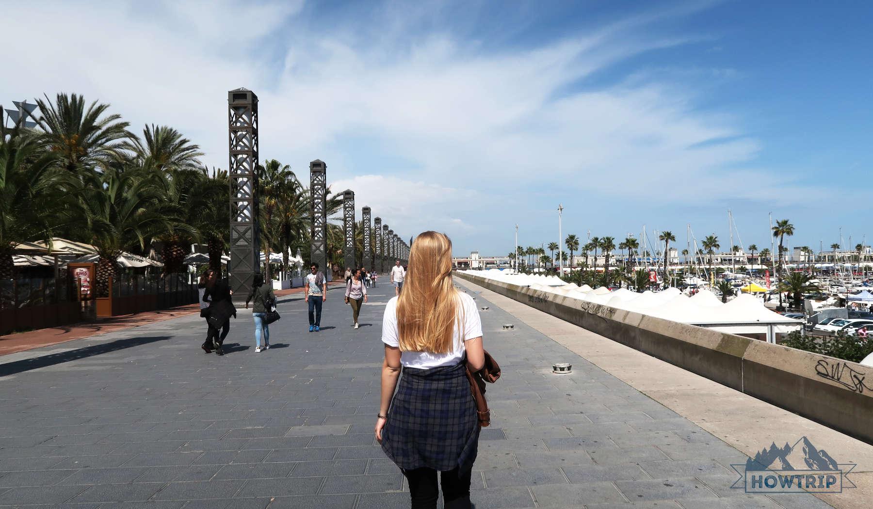 バルセロナの堤防