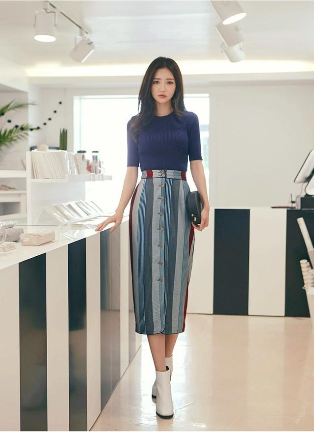 """แฟชั่น """"กระโปรงยาว"""" สำหรับสาวหวานสไตล์เกาหลีแบบคิวท์ๆ"""
