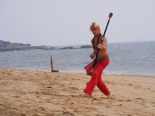 Hippie on Anjuna beach, Goa