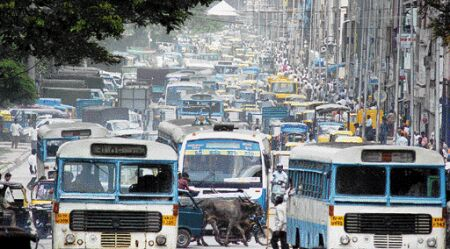 The traffic in Bangalore City