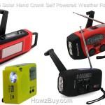 $25 Solar Hand Crank Self Powered Emergency Weather Radio