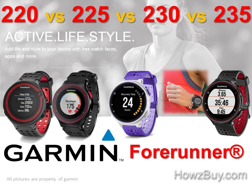 Garmin Forerunner 220 vs 225 vs 230 vs 235 Watch Comparison