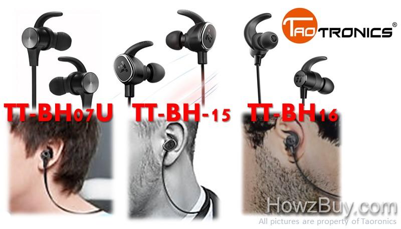 Taotronics TT-BH07U vs TT-BH15 vs TT-BH16 Headphones Comparison