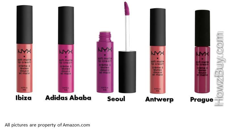 NYX Soft Matte Lip Cream Pink & Purple Shades