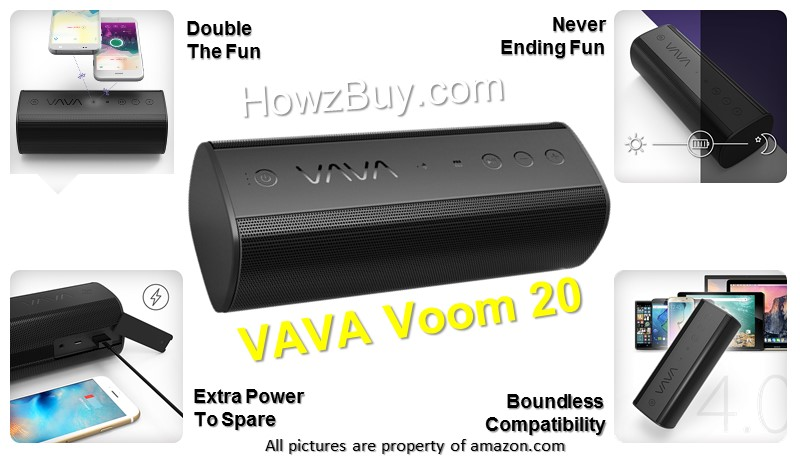 Vava Voom 20 review-wireless-bluetooth-wireless speaker-battery life-review-bluetooth speaker-waterproof-best-best seller-amazon