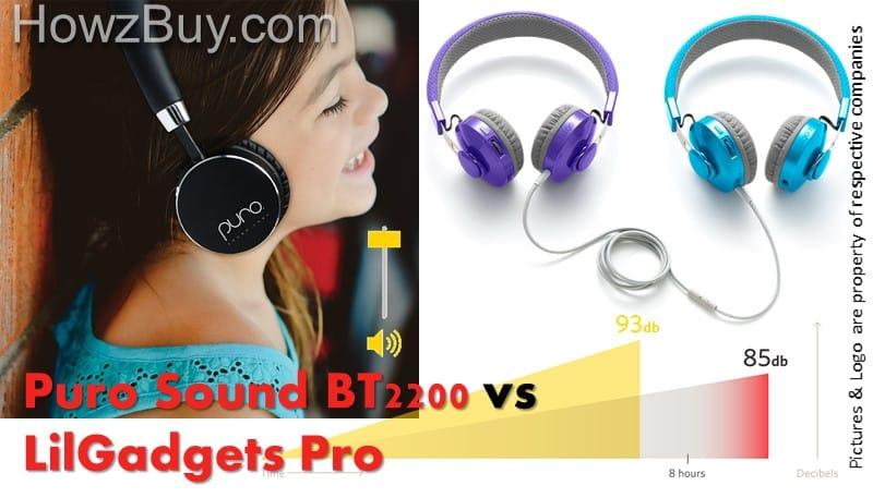 Puro Sound Labs BT2200 vs LilGadgets Untangled Pro Premium Kids Headphones
