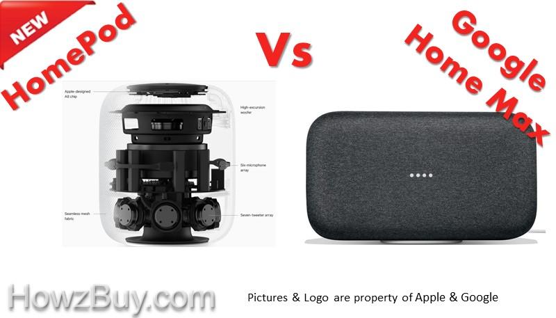 Apple HomePod vs Google Home Max Comparison