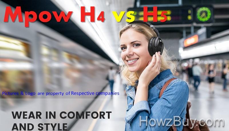 Mpow H4 vs H5 Over Ear Bluetooth Headphones Review & Comparison