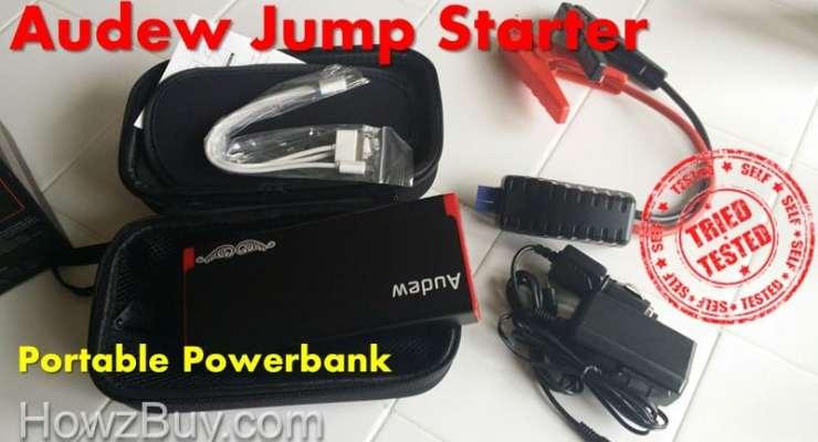 Audew Jump Starter Hands On Review [Portable Powerbank]
