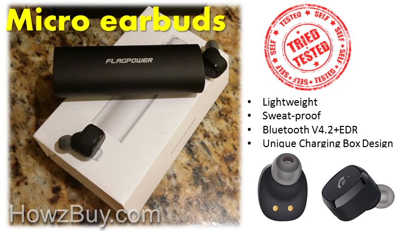 Micro Bluetooth Earbuds by FLAGPOWER - Hands On Review
