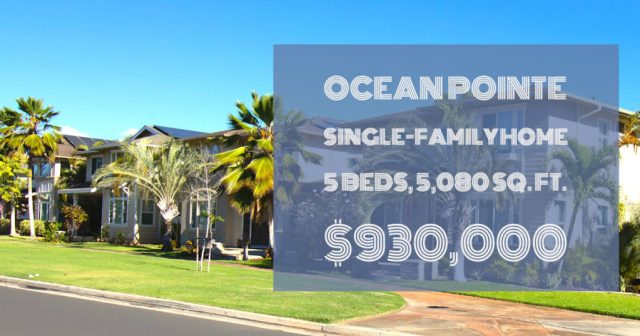 ocean pointe single family home, 5 beds, 5,080 sq. ft, $930,000