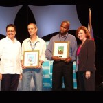 Receiving CHA award for Excellence in tourism reporting | 2004