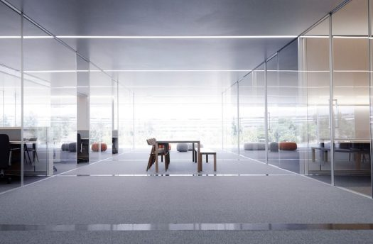 Interior de las oficinas.