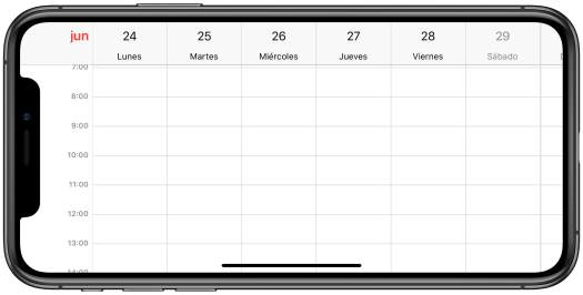 Calendario Horizontal - Hoy en Apple