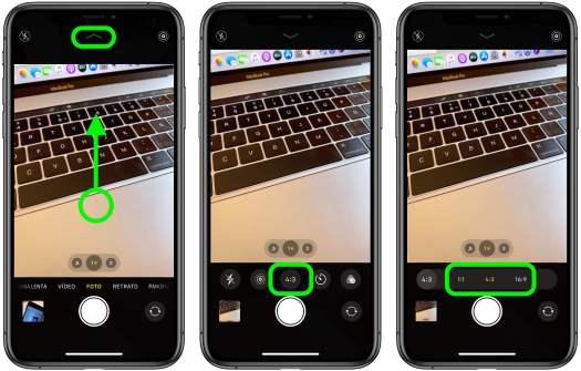 Pasos aspecto cámara iOS 13
