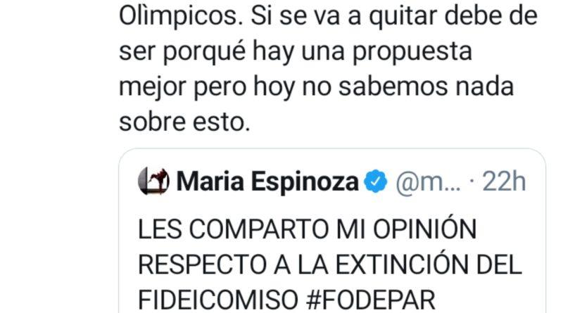 Medallistas impugnan la desaparición de #Fodepar