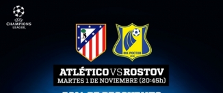 Ir al evento: At. Madrid vs Rostov - UEFA Champions League