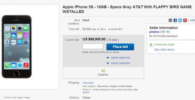 ebay flappy iphone
