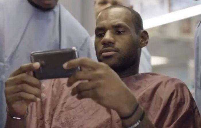 LeBron James samsung