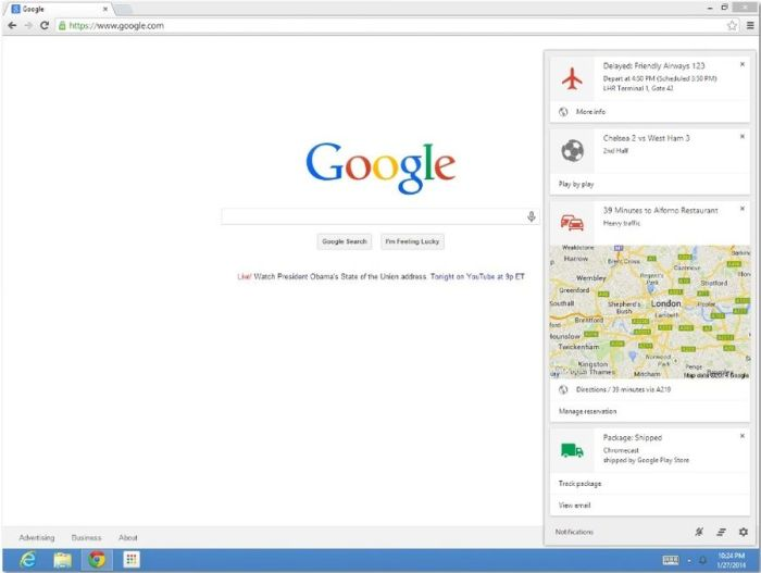 google now windows mac