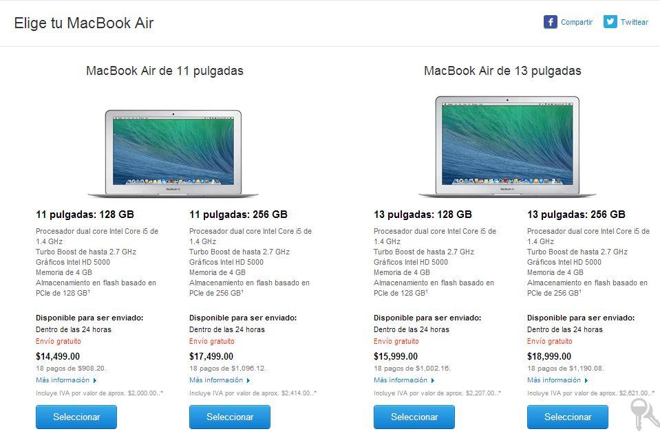 macbook air precios