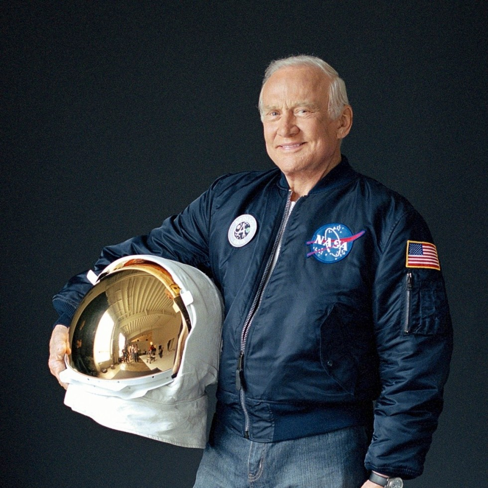 Buzz Aldrin celebra la llegada del hombre a la Luna