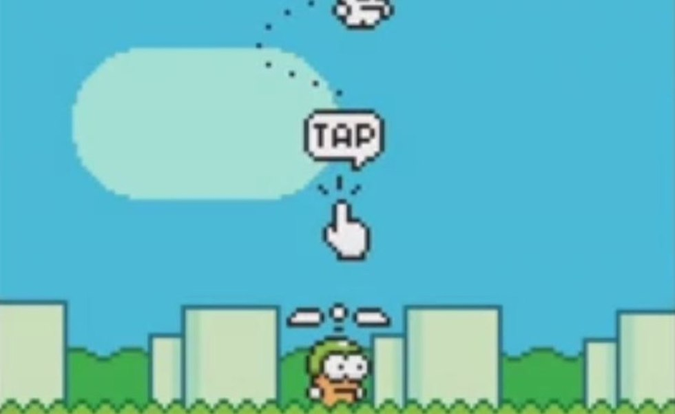 Flappy Bird 2 ha llegado como Swing Copters, el nuevo juego