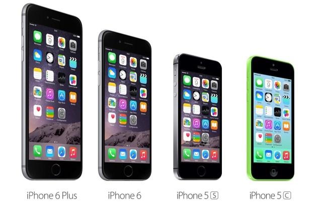 iphones tamaño comparacion