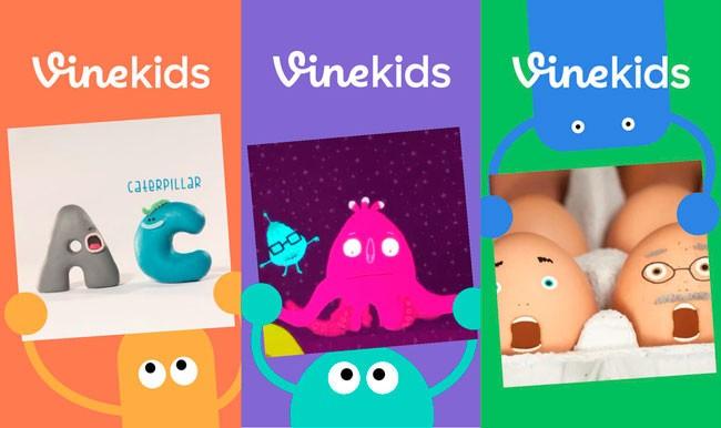 """Vine Kids tiene una interfaz """"divertida"""" para que los niños vean videos de forma segura. Imagen: Vine"""
