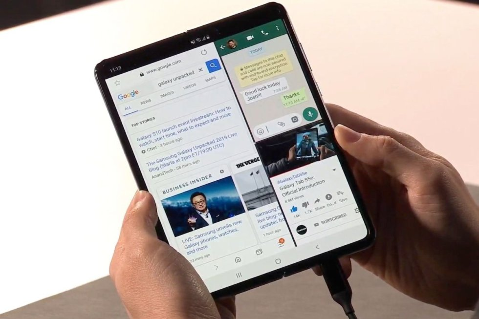 Samsung: Galaxy Fold es el primer Smartphone plegable Hara historia-2