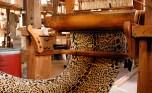 Le Manach - Leopard Stoff handgewebt