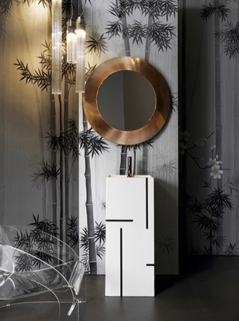 Misha Wallpaper Bamboo Forest Silver - Hoyer & Kast Interiors
