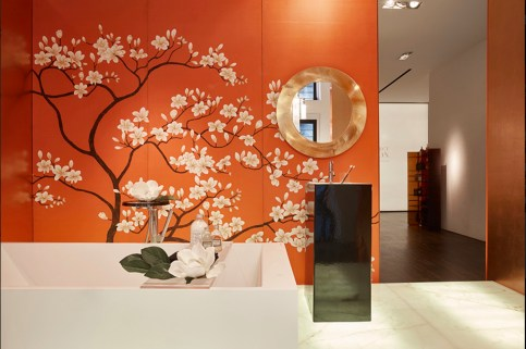 Misha Wallpaper Magnolia Tree - Hoyer & Kast Interiors
