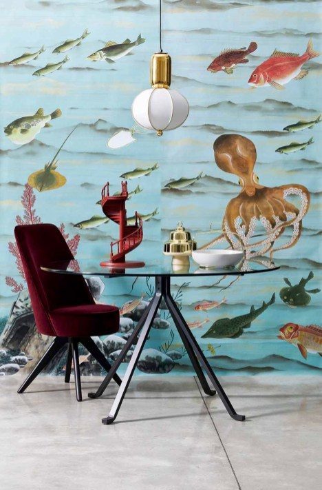 Misha Wallpaper Seabed - Hoyer & Kast Interiors