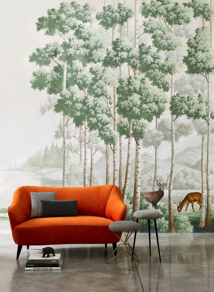 Misha Wallpaper The Amber Route - Hoyer & Kast Interiors