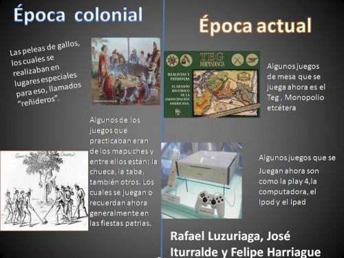 Comparando pocas Colonial y Actual para compartir