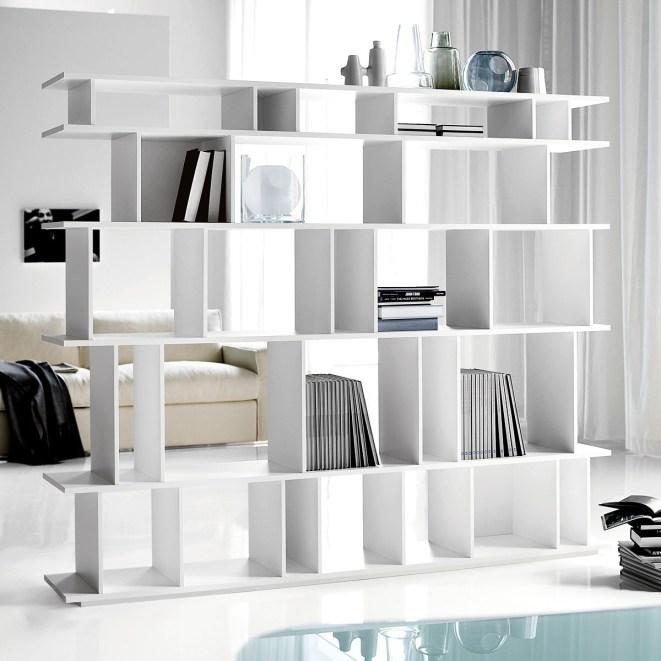 estanterias como separadores de ambientes