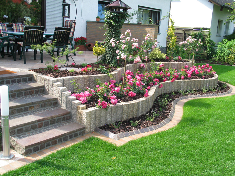 jardines diseo con flores  Hoy LowCost